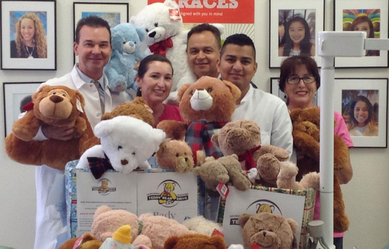 SmileCare Team Delivers Teddy Bears